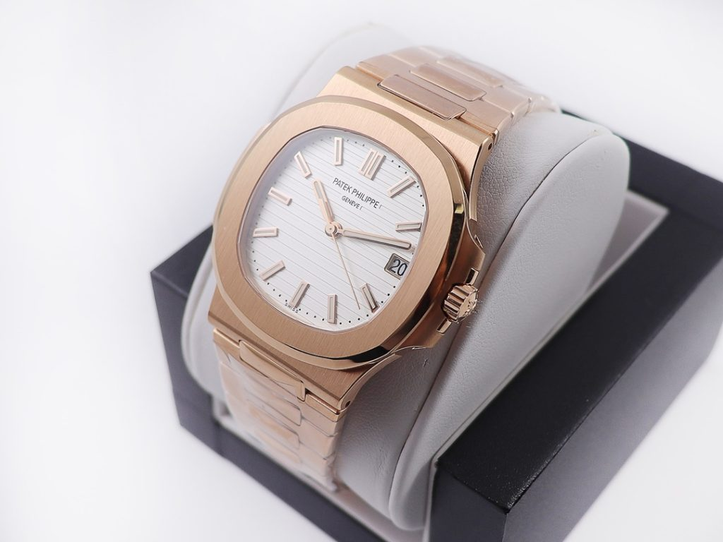 PPF Replica Patek Philippe Nautilus Rose Gold watch