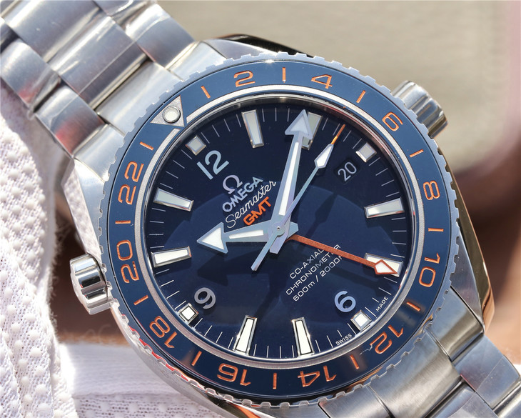 VSF Replica Omega Planet Ocean 600m GMT Blue Dial