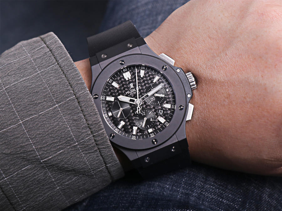 Hublot Black Carbon Wrist Shot