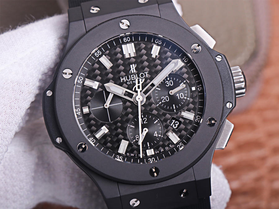 Replica Hublot Big Bang Black Carbon Fiber Dial
