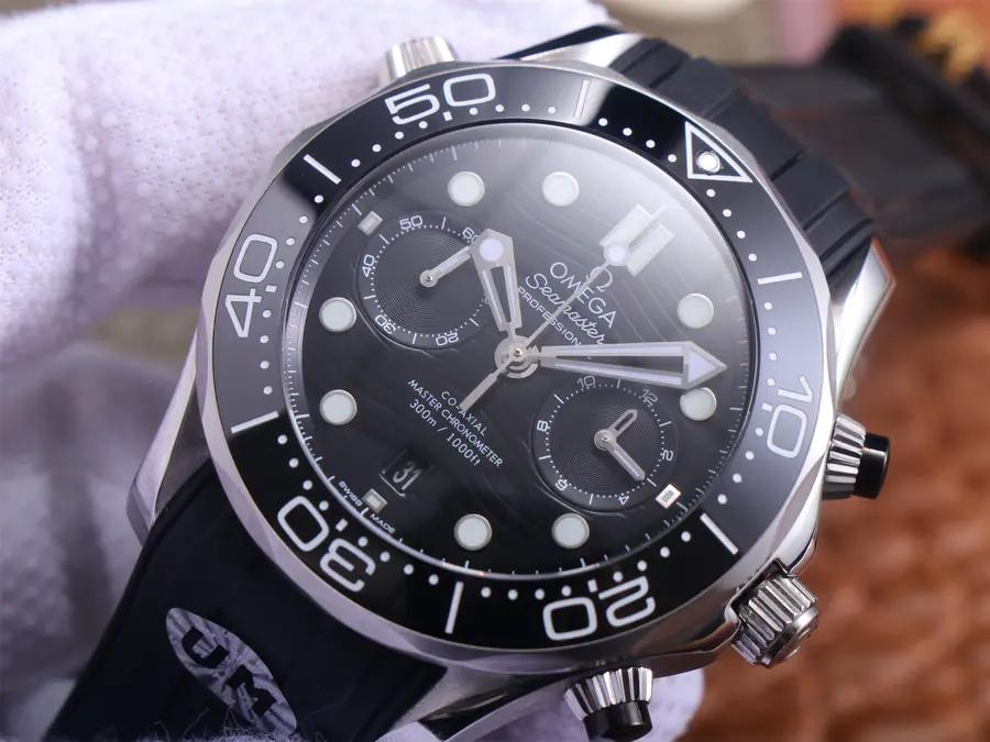 Replica Omega Seamaster Chrono Black Dial