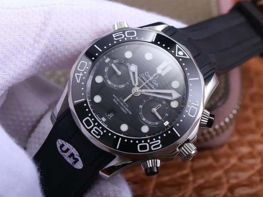 Replica Omega Seamaster Chrono Black
