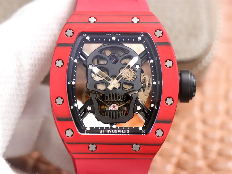 Replica Richard Mille Skull Tourbillon