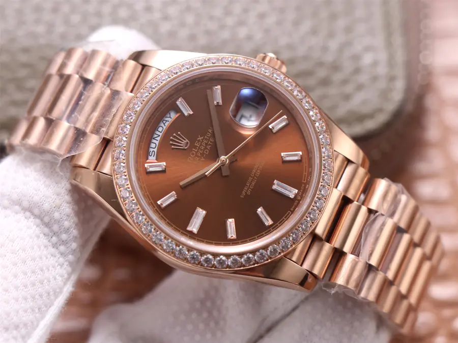 EW Factory Replica Rolex Day-Date Rose Gold