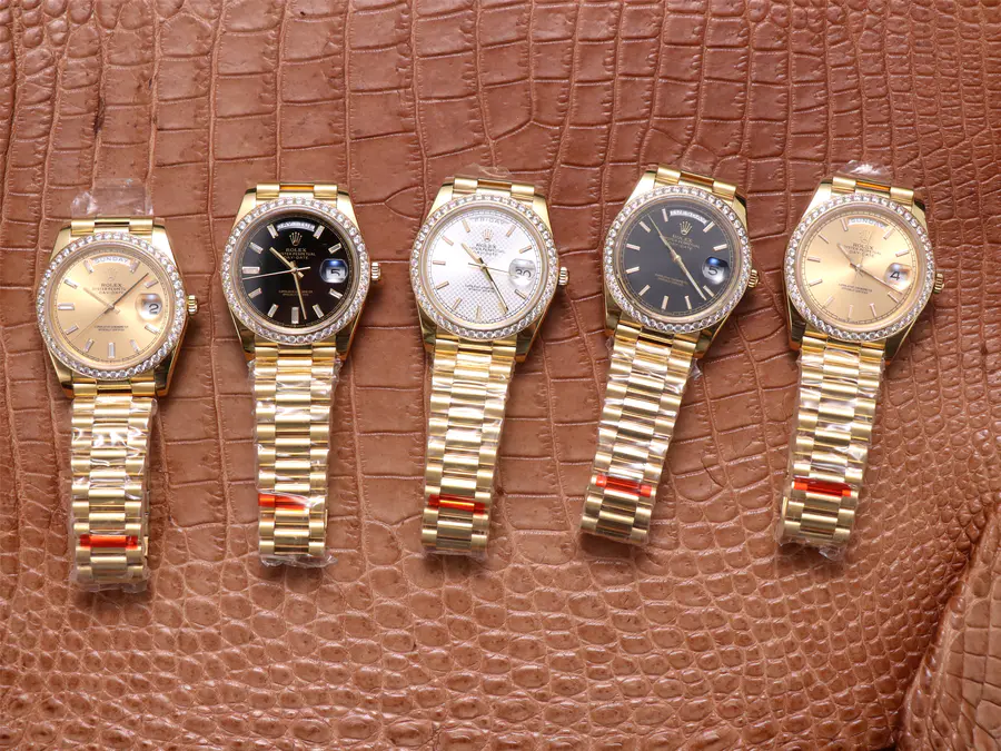 EW Factory Rolex Day-Date Yellow Gold Watches Collection