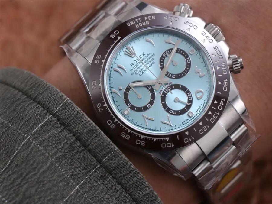 Rolex Daytona Ice Blue Wrist Shot