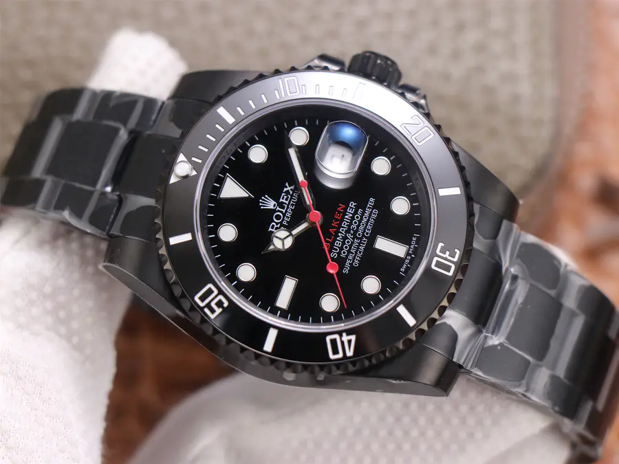 Replica Rolex Submariner Black PVD V9 Factory