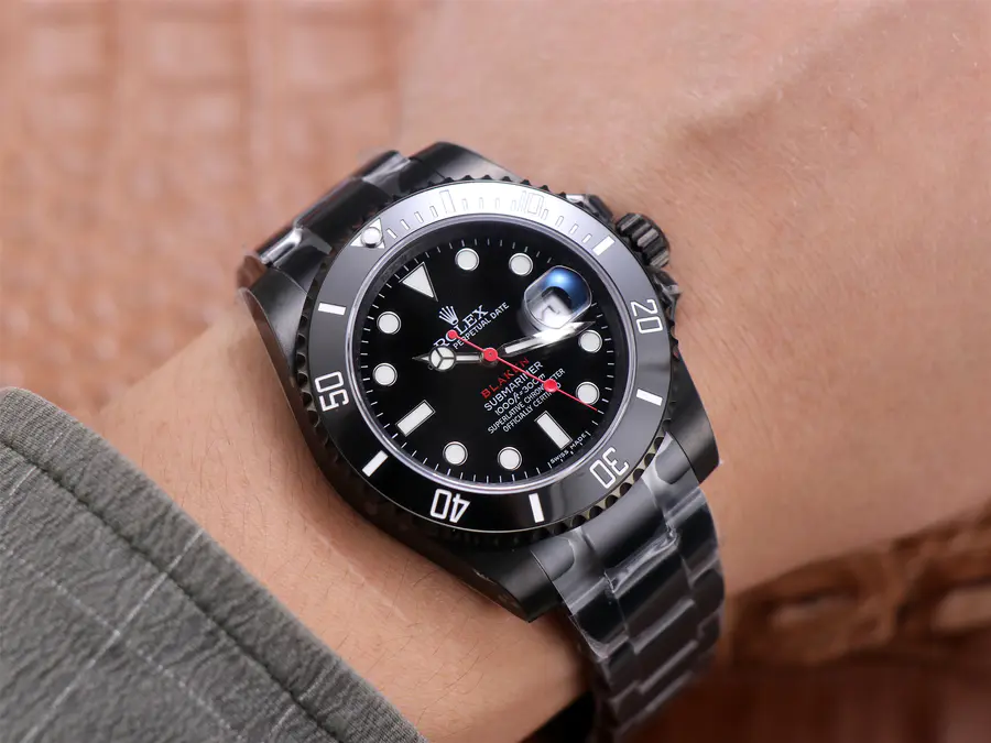 Rolex Submariner Blaken Wrist Shot