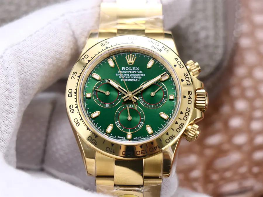 Replica Rolex Daytona Yellow Gold Green Dial