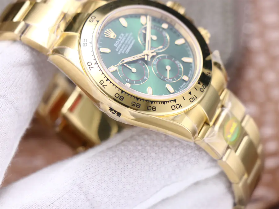 Rolex Green Daytona Yellow Gold Case
