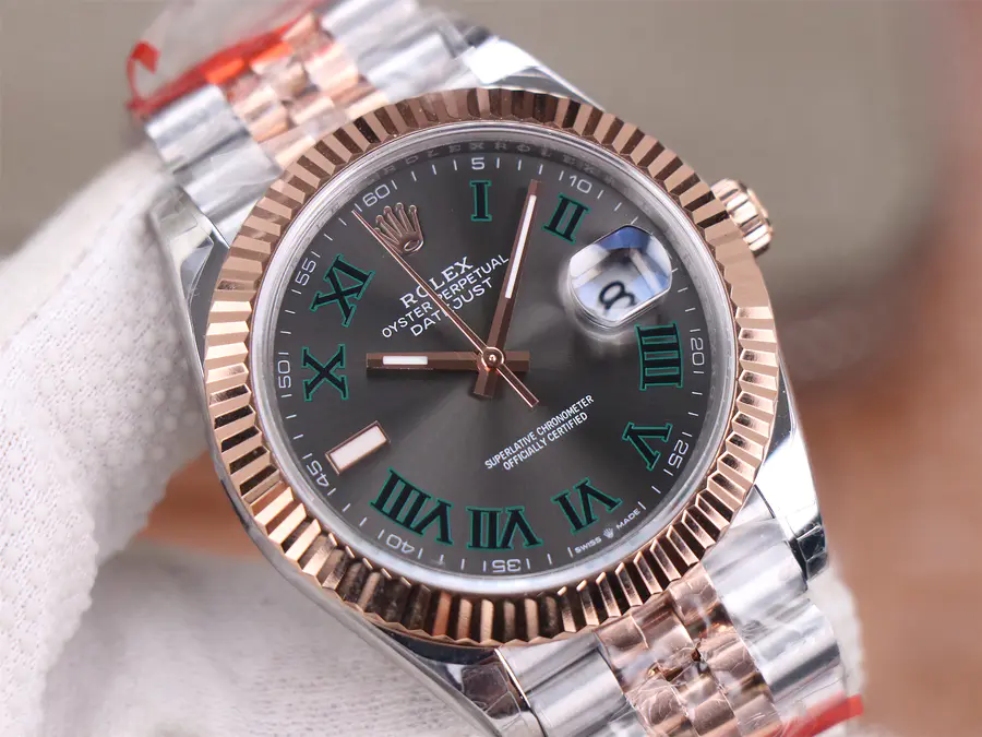 Replica Rolex Datejust II Rose Gold Grey Rome Dial