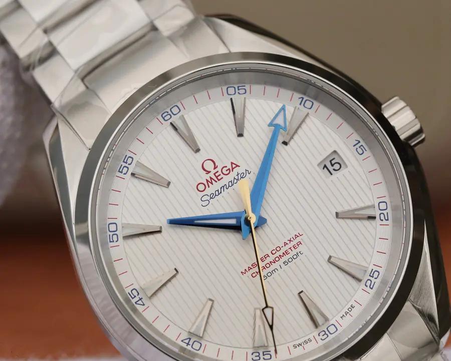 Omega Aqua Terra White Dial